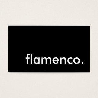 flamenco tarjeta de negocios