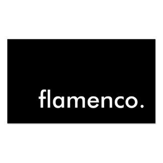 flamenco tarjetas de visita