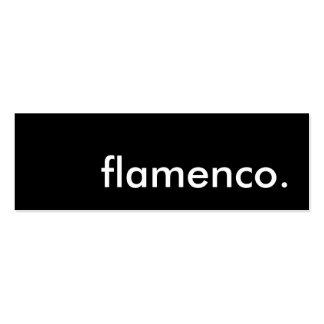 flamenco tarjetas de visita mini