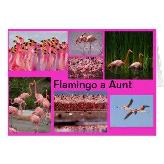 Flamenco una tarjeta de la tía felicitación
