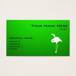 Flamenco verde tarjeta de negocios