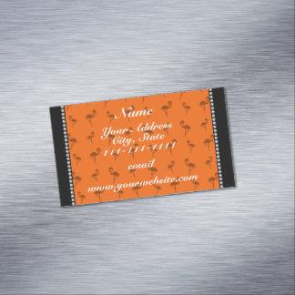 Flamencos anaranjados conocidos personalizados tarjetas de visita magnéticas (paquete de 25)