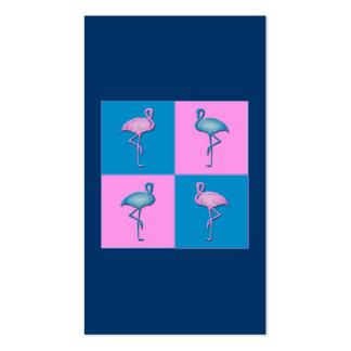 Flamencos azules y rosados plantilla de tarjeta de negocio
