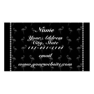 Flamencos negros conocidos personalizados tarjetas de visita