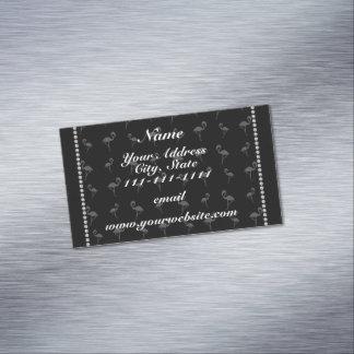 Flamencos negros conocidos personalizados tarjetas de visita magnéticas (paquete de 25)