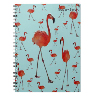 Flamencos que caminan cuaderno