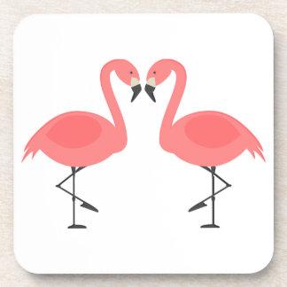 Flamencos rosados boda tropical, fiesta, Luau Portavasos