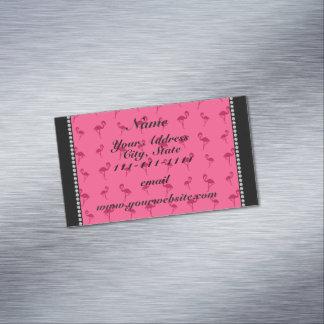 Flamencos rosados conocidos personalizados tarjetas de visita magnéticas (paquete de 25)