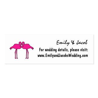 Flamencos rosados que casan tarjetas del parte tarjetas de visita mini