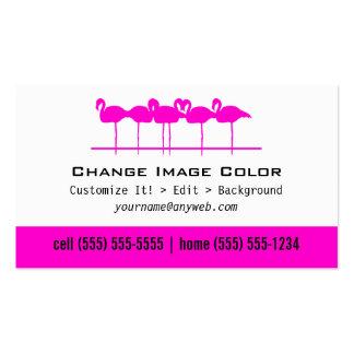 Flamencos rosados - tarjeta de visita personal