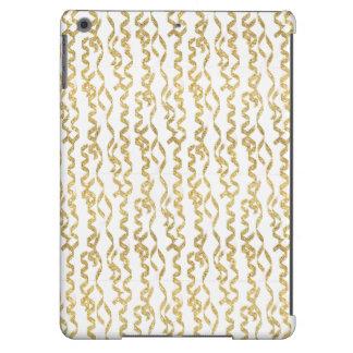 Flámulas del fiesta del brillo del oro en el fondo funda para iPad air