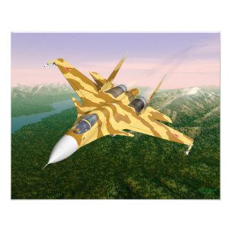 Flanker estupendo SU-37 Impresiones Fotográficas