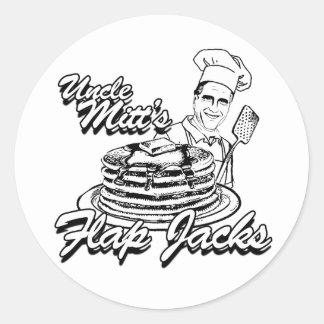 FLAP JACKS.png de TÍO MITT'S Pegatina Redonda
