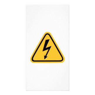 Flash de la electricidad tarjetas personales con fotos