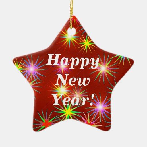 Flash del a o nuevo adorno de cer mica en forma de - Ornamentos de navidad ...