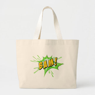 Flash del Bam en blanco Bolsa Tela Grande