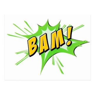 Flash del Bam en blanco Postal