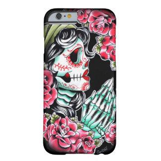 Flash del tatuaje del cráneo de Dia De Los Muertos Funda De iPhone 6 Barely There