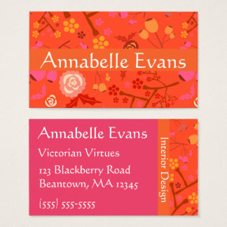 Flash floral tarjeta de negocios