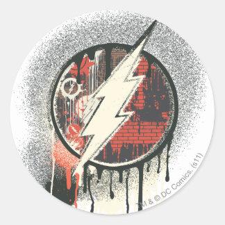Flash - símbolo torcido de la inocencia pegatina redonda