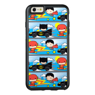 Flash, superhombre, y Batman de Chibi que compite Funda Otterbox Para iPhone 6/6s Plus
