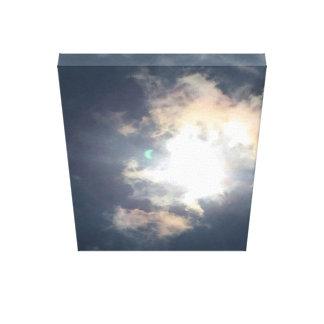 Flash verde - eclipse solar, el 21 de agosto de lienzo