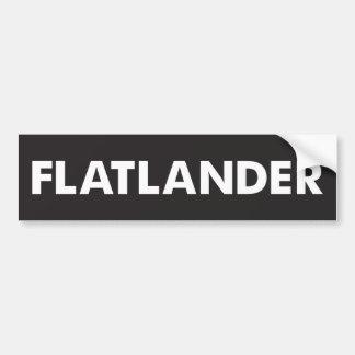 Flatlander Pegatina Para Coche