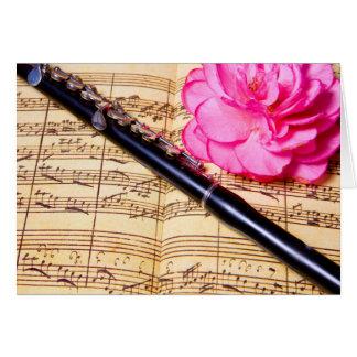 Flautín en tarjeta de nota de encargo de la
