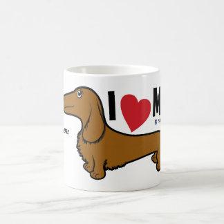 """FLDR """"amo mi"""" taza roja del carácter de la LH"""