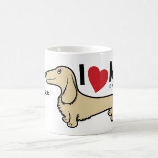 """FLDR """"amo mi"""" taza rubia del Dachshund de la LH"""