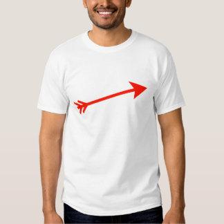 Flecha 15deg rojo los regalos de Zazzle del MUSEO Camisetas
