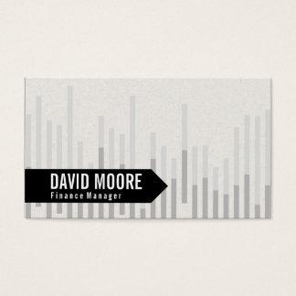 Flecha del gráfico de barra el | tarjeta de negocios