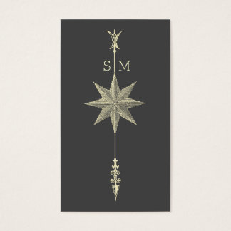 Flecha Intitials del rosa de compás Tarjeta De Negocios