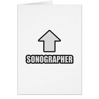 Flecha Sonographer Tarjeta De Felicitación