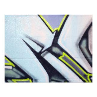 Flechas de la pintada de la calle tarjetón