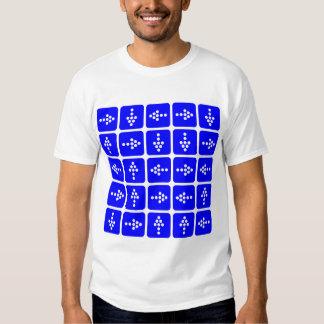 Flechas del estilo del LED - azul Camisas