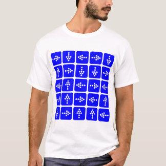 Flechas del estilo del LED - azul Camiseta