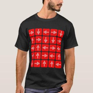 Flechas del estilo del LED - rojo Camiseta