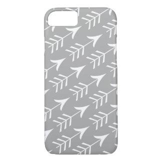 Flechas grises y blancas funda iPhone 7