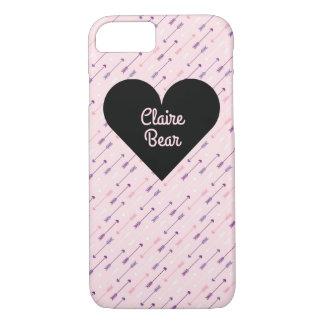 Flechas y corazón - caja del teléfono funda iPhone 7