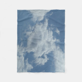 Fleecedecke con nubes fotografías manta polar
