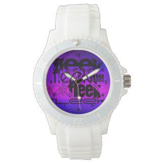 Fleek; Azul violeta y magenta vibrantes Reloj