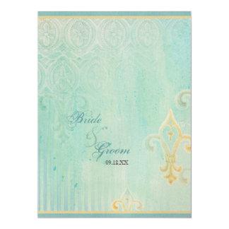 Fleur di Lys Damask 2 - invitación del boda