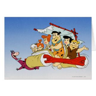 Flintstone Wilma Barney y Betty PEBBLES™ de Fred Tarjeta De Felicitación