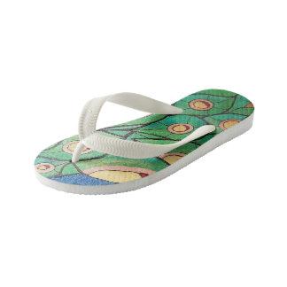 Flip-flop del pavo real chanclas para niños