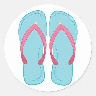Flip-flop Pegatina Redonda