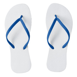 Flips-flopes adultos azules, correas delgadas chanclas