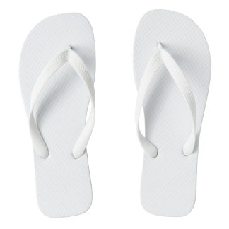 Flips-flopes adultos blancos, correas anchas chanclas