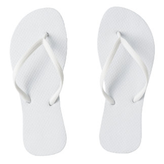 Flips-flopes adultos blancos, correas delgadas chanclas