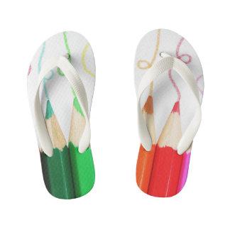 flips-flopes coloreados del lápiz chanclas para niños